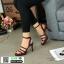 รองเท้าส้นสูงรัดข้อ วัสดุหนังกริตเตอร์ G5-258-RED [สีแดง] thumbnail 1