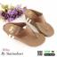 รองเท้าลำลองส้นเตารีดแบบคีบ M1822-BWN [สีน้ำตาล] thumbnail 2
