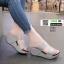รองเท้าส้นเตารีดแบบสวม2ตอน 8052-เทา [สีเทา] thumbnail 1