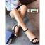รองเท้าส้นสูงรัดส้น วัสดุผ้าสักหลาด ST-12-BLK [สีดำ] thumbnail 2