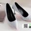 รองเท้าคัชชูส้นสูงหัวแหลมนำเข้า วัสดุผ้าซาติน BJJ-0001-GRY [สีเทา] thumbnail 4