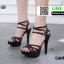 รองเท้าส้นสูงรัดข้อเปิดท้าย 18-1362-BLK [สีดำ] thumbnail 1