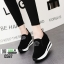 รองเท้าผ้าใบเสริมส้น พิมพ์อักษรด้านหน้า 0567-BLACK [สีดำ] thumbnail 3