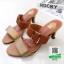 รองเท้าส้นสูง แบบเปิดส้น สายคาด2ตอน สวยหรู 1915-แทน [สีแทน] thumbnail 3