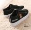 รองเท้าผ้าใบหนัง PU ดีไซน์น่ารักๆ-Black A-26 [สีดำ] thumbnail 3