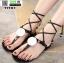 รองเท้าแตะส้นแบน jelly sandals TIT01-BLK [สีดำ] thumbnail 2