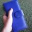 กระเป๋าสตางค์ผู้หญิง ใบยาวสวยงาม สีน้ำเงินสด หนังวัวแท้แสนนุ่ม ทนทาน โดนน้ำได้ ไม่ลอกร่อน พร้อมกล่องแบรนด์แท้ Moonlight thumbnail 1