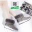 รองเท้าบูทเกาหลีสีเทา หนังวัวนิ่ม บุขน (สีเทา ) thumbnail 1