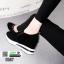 รองเท้าผ้าใบเสริมส้น พิมพ์อักษรด้านหน้า 0567-BLACK [สีดำ] thumbnail 5
