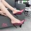 รองเท้าส้นสูงหัวแหลมแหลม ใสเปิดส้น H178-A12-PNK [สีชมพู] thumbnail 2