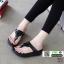 รองเท้าฟิทฟลอบ รองเท้าเพื่อสุขภาพแต่งด้วยคริสตัล 6532-ดำ [สีดำ] thumbnail 1