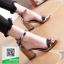 รองเท้าส้นตันรัดข้อสีเทา สไตล์ ZARA (สีเทา ) thumbnail 4