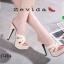 รองเท้าส้นสูงสวมสไตล์แบรนด์ดัง 17-2314-CRM [สีครีม] thumbnail 4