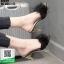 รองเท้าส้นสูงแบบสวมขนเฟอร์ ST6191-BLK [สีดำ] thumbnail 2
