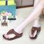รองเท้าสุขภาพแต่งพู่ตุ้งติ้ง L2882-BRN [สีน้ำตาล] thumbnail 1