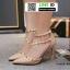 รองเท้าส้นสูงสไตล์วาเลนติโน่ 18-1414-PNK [สีขาว]