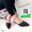 รองเท้าส้นเข็มสีดำ หัวแหลม เปิดส้น (สีดำ ) thumbnail 2