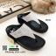 รองเท้าเพื่อสุขภาพ แบบคีบ แต่งเพชร TA104-เงิน [สีเงิน] thumbnail 2