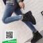 รองเท้าบูทหุ้มข้อสีชมพู สไตล์เกาหลี (สีชมพู ) thumbnail 1