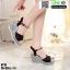 รองเท้าทรงเตารีดแบบรัดข้อ ST13-BLK [สีดำ] thumbnail 3