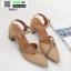 รองเท้าคัทชู รัดส้น ส้นสูง B89-3-KAKI [สีกากี] thumbnail 3
