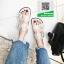 รองเท้าแตะผู้หญิงสีขาว ผ้าลูกไม้ (สีขาว ) thumbnail 5