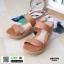 รองเท้าแตะพียู ส้นโฟม รัดส้น PU6101-BRN [สีน้ำตาล] thumbnail 2