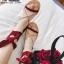 รองเท้าแตะสายคาดไขว้ หนังสักราจ G-1264-RED [สีแดง] thumbnail 1