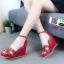 รองเท้าลำลองส้นเตารีด สไตล์แบรนด์ HERMES HW-22-RED [สีแดง] thumbnail 2