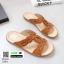 รองเท้าแตะพื้นเตี้ย งานนี้บอกเลยว่านุ่มจนตะลึง 230-6-น้ำตาล [สีน้ำตาล ] thumbnail 2