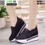 รองเท้าผ้าใบเสริมส้นแบบสวม ST319-BLK [สีดำ] thumbnail 4