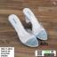 รองเท้าส้นสูง ส้นแก้ว 17-4094-SIL [สีเงิน]