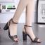 รองเท้าส้นสูงนำเข้าสไตล์เกาหลี 0653-ดำ [สีดำ] thumbnail 1
