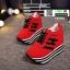 รองเท้าผ้าใบเสริมส้นสไตล์เกาหลี IH SB1084-RED [สีแดง] thumbnail 5