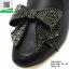 รองเท้าส้นเตี้ยสีดำ สไตล์กุชชี่ (สีดำ ) thumbnail 5