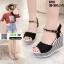 รองเท้าทรงเตารีดแบบรัดข้อ ST13-BLK [สีดำ] thumbnail 4