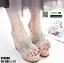 รองเท้าสวมส้นเตารีด ST8008-SIL [สีเงิน] thumbnail 2