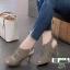 รองเท้าส้นสูง รัดข้อ ฉลุลาย 10177-เทา [สีเทา] thumbnail 1
