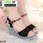 รองเท้าทรงเตารีดแบบรัดข้อ ST13-BLK [สีดำ] thumbnail 2