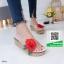 รองเท้าส้นเตารีดสีขาว แต่งดอกกุหลาบสีแดง (สีขาว ) thumbnail 2