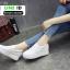 รองเท้าผ้าใบผู้หญิง สวมหนังนิ่ม SG-153 [สีขาว] thumbnail 5