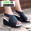 รองเท้าลำลองรัดส้น สไตล์สุขภาพ 981-93-BLK [สีดำ] thumbnail 2
