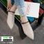 รองเท้าส้นเตี้ยเปิดส้น สุดชิค งานเก๋ แต่งสีเรียบ G-1299-APR [สีแอปริคอท] thumbnail 3