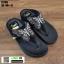 รองเท้าแตะรองเท้าสุขภาพแบบหูคีบ TA106-BLK [สีดำ] thumbnail 2