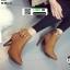 รองเท้าบุทส้นเข็มหุ้มข้อ ST621-TAN [สีแทน] thumbnail 3