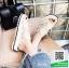 รองเท้าแตะผู้หญิงสีขาว ผ้าลูกไม้ (สีขาว ) thumbnail 2