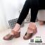 รองเท้าส้นเตารีดรัดข้อ หนังเงา 7797-4-ตาล [สีตาล] thumbnail 4