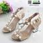 รองเท้าส้นสูง สไตล์เกาหลี 2767-5-KAKI [สีกากี] thumbnail 3