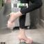 รองเท้าส้นสูงแบบสวมขนเฟอร์ ST6191-PNK [สีชมพู] thumbnail 3