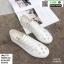 รองเท้าผ้าใบลายฉลุ แบบเชือก T70-WHI [สีขาว] thumbnail 4